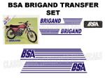 BSA Brigand Transfer Decal Set DBSA22 Blue